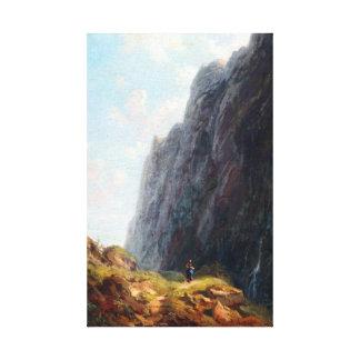 Carl Spitzweg Mountain Landscape and Milkmaid Canvas Print