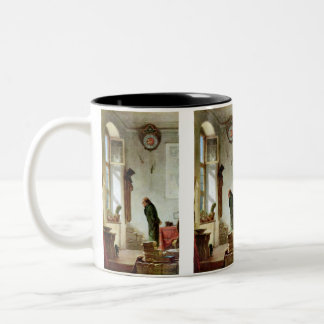 Carl Spitzweg - The Cactus Enthusiast Two-Tone Coffee Mug