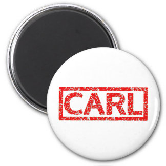 Carl Stamp 2 Inch Round Magnet