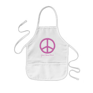 Carleigh's Pink Peace Bling Gifts Kids Apron