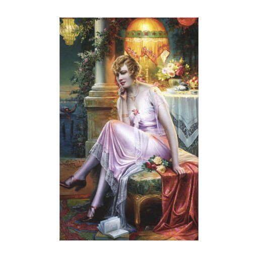Carlier: Elegant Lady Stretched Canvas Prints