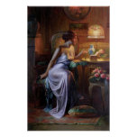 Carlier: Elegant Lady with Necklace Poster
