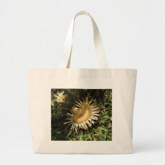 Carline thistle (Carlina acanthifolia) Large Tote Bag