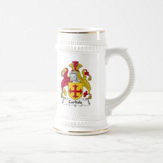 Carlisle Family Crest Beer Stein