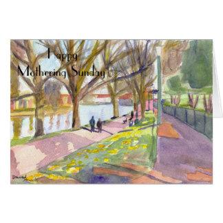 Carlisle Park,Morpeth Mothering Sunday card. Card