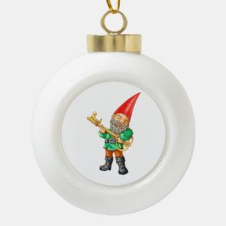 Carlos Ceramic Ball Christmas Ornament