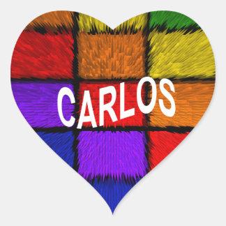 CARLOS HEART STICKER