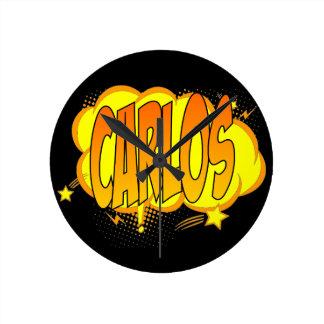 Carlos name round clock