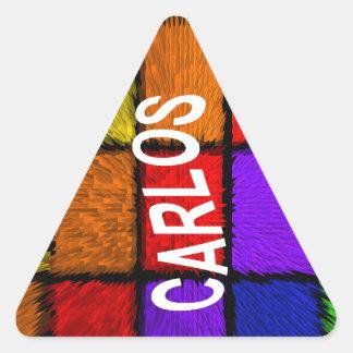 CARLOS TRIANGLE STICKER