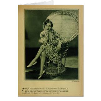 Carlotta King 1929 vintage portrait card