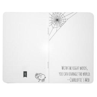 Carlotte's Web inspired Notebook Journal