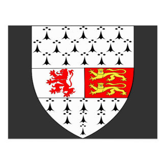 Carlow County Crest, Ireland Postcard