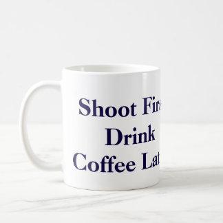 "Carlton Lasiter's ""Shoot First"" Mug- Psych Coffee Mug"