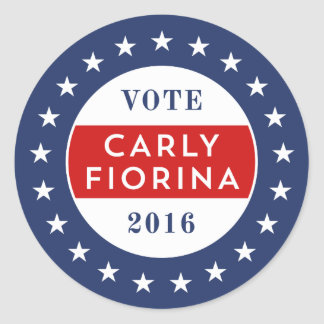 Carly Fiorina 2016 Classic Round Sticker
