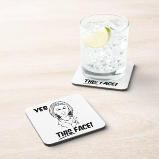 Carly Fiorina Yes This Face Beverage Coasters