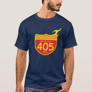 CARMAGEDDON 2 the 405 ON FIRE! (dark shirt) T-Shirt
