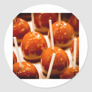 Carmel Apple Classic Round Sticker