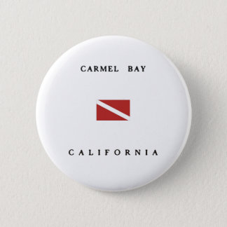Carmel Bay California Scuba Dive Flag 2 Inch Round Button