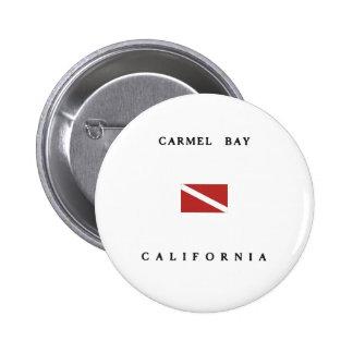 Carmel Bay California Scuba Dive Flag 2 Inch Round Button