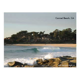 Carmel Beach by John Oven Postcard