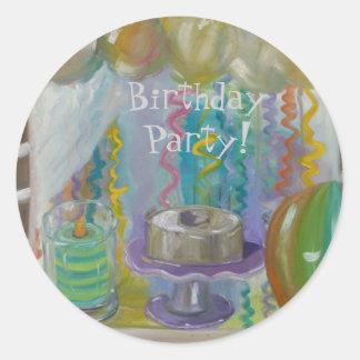 Carmel Birthday Window Classic Round Sticker
