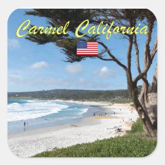 CARMEL BY THE SEA - MONTEREY CALIFORNIA USA SQUARE STICKER