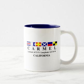 Carmel, California Two-Tone Coffee Mug