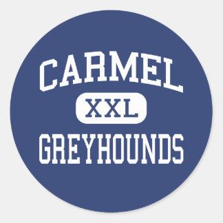 Carmel - Greyhounds - High School - Carmel Indiana Classic Round Sticker