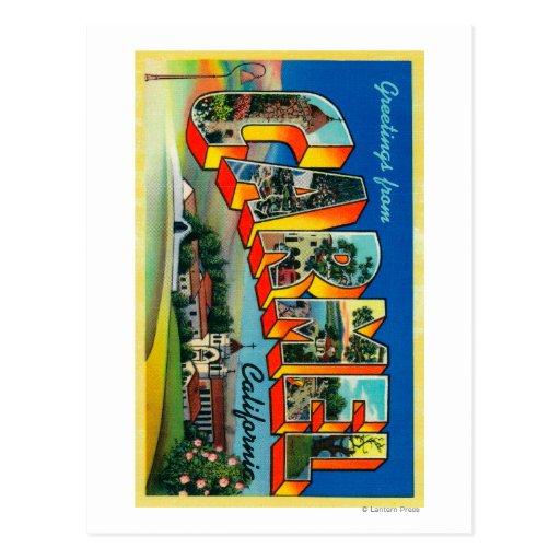 Carmel, la Californie - grandes scènes de lettre Carte Postale
