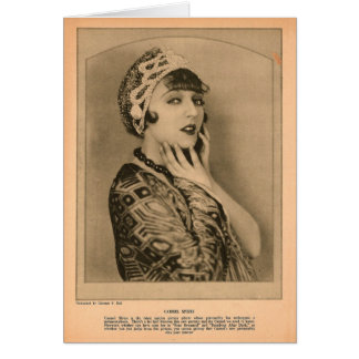 Carmel Myers 1924 vintage portrait Card