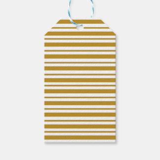 Carmel Pinstripe Gift Tags