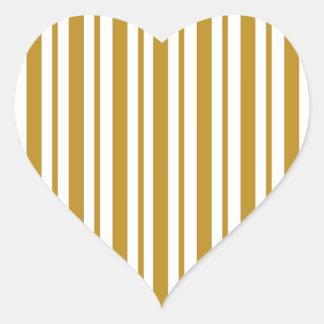 Carmel Pinstripe Heart Sticker