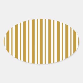 Carmel Pinstripe Oval Sticker