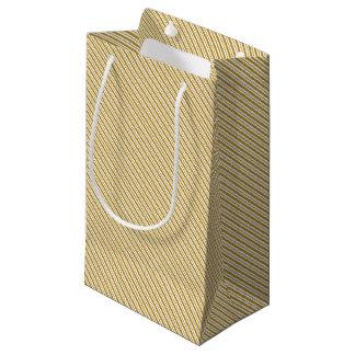 Carmel Pinstripe Small Gift Bag