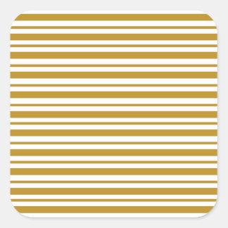 Carmel Pinstripe Square Sticker