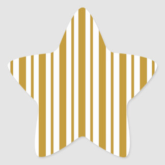 Carmel Pinstripe Star Sticker