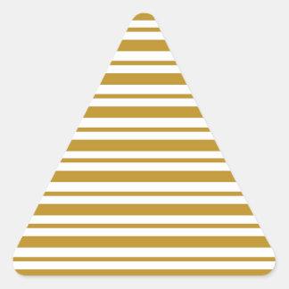 Carmel Pinstripe Triangle Sticker