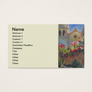 Carmel Spanish Mission California Garden Business Card