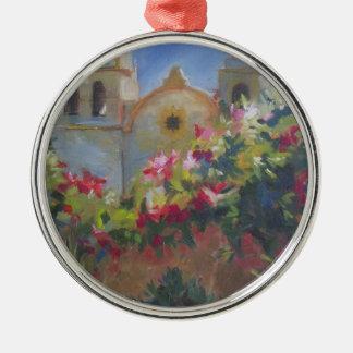 Carmel Spanish Mission California Garden Metal Ornament