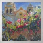 Carmel Spanish Mission California Garden Poster
