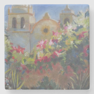 Carmel Spanish Mission California Garden Stone Coaster