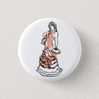 Carmen in a plate 1 inch round button