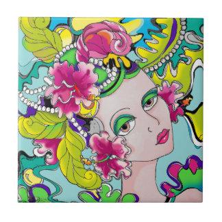 Carmen Mardi Gras Girl Tile