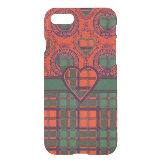 Carmichael clan Plaid Scottish kilt tartan iPhone 8/7 Case