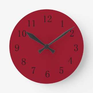 Carmine Red Kitchen Wall Clock