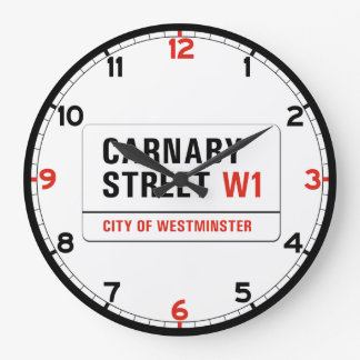 Carnaby Street, London Street Sign Large Clock