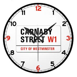 Carnaby Street, London Street Sign Wall Clocks