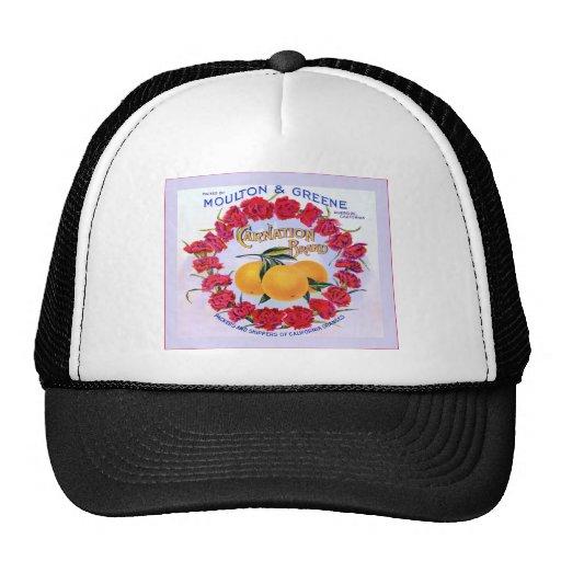 Carnation Brand Oranges ~ Vintage Fruit Crate Trucker Hat