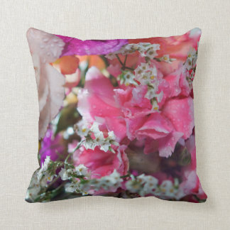 Carnation Flowers Throw Pillow