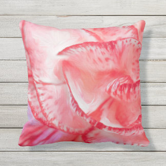 Carnation Outdoor Throw Pillow, Throw Pillow